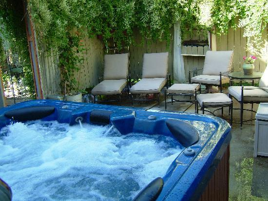 Palisade Wine Valley Inn: secluded spa