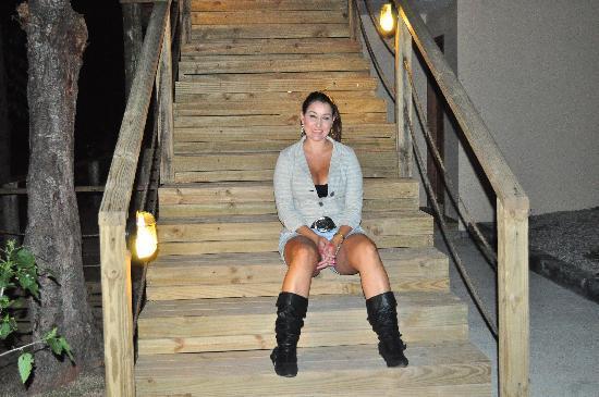 Pousada Oceanomare: Escadarias rusticas