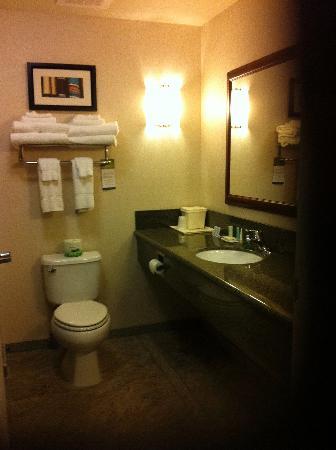 Comfort Suites: Large bathroom with huge tub/shower