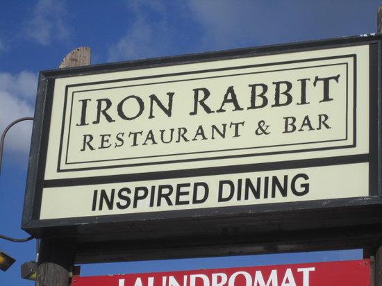 The Iron Rabbit Restaurant and Bar : Restaurant sign