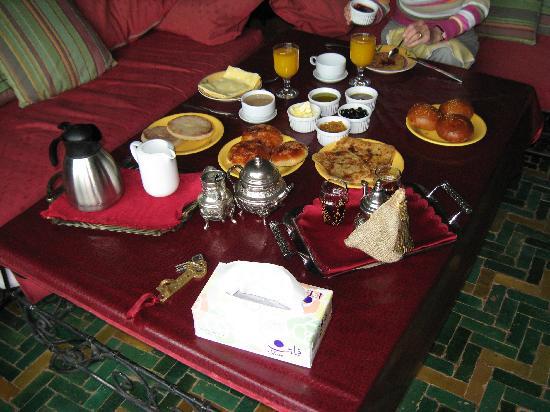 Jnane N'zaha : het ontbijt