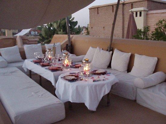 Diner Terrasse Riad Dar Assoura