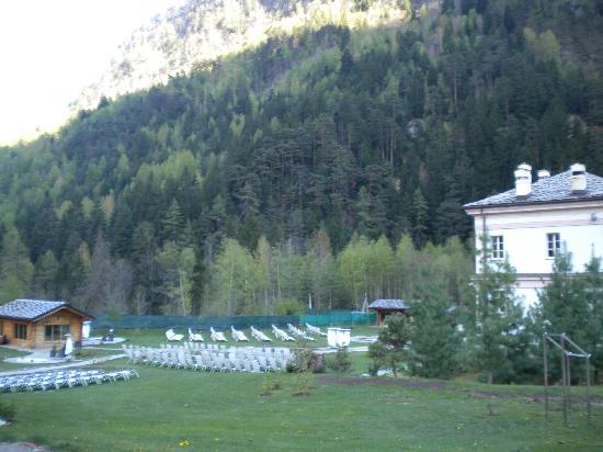 Pre-Saint-Didier, Ιταλία: Solarium e chalet delle saune