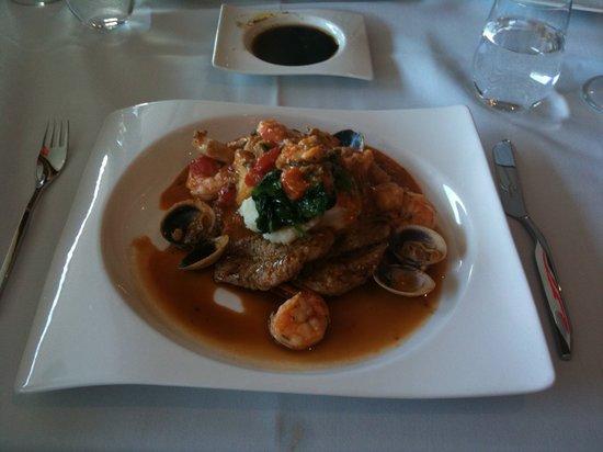 Assaggio Ristorante: Veal with seafood sauce- a signature dish