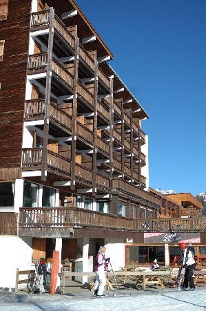 Chalet Hotel Christina : Hotel Christina from the piste