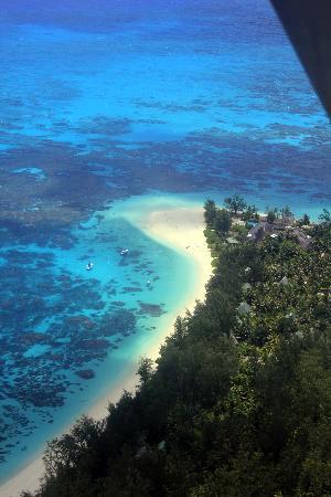 Denis Private Island Seychelles : Vue avion Denis Island - Avril 2011