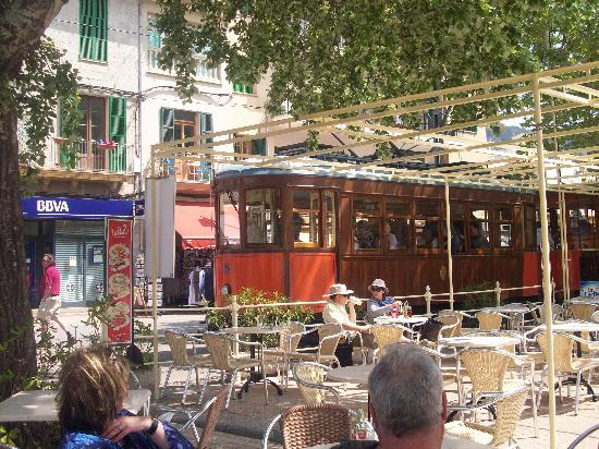 Port d'Alcudia, İspanya: Soller tram, through the Blossom trail.