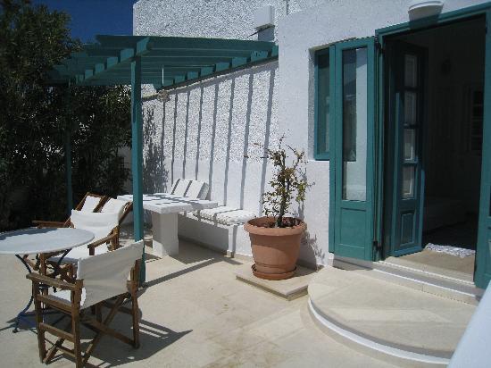 Strogili Traditional Houses: Grande terrasse sans vis à vis