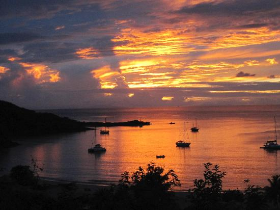 Saint Mary's, Antigua : Sunset From Hillside Pool Suite