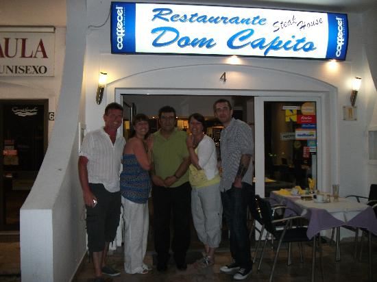 Dom Capito: extremely satisfied customers with the lovely Carlos