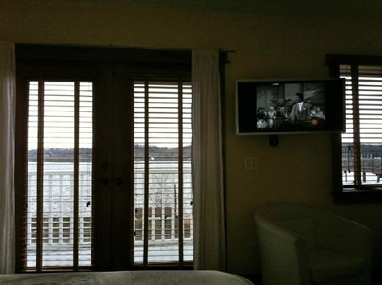 The Rhinecliff: view from the bed in our room on 2nd floor