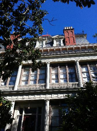 Wentworth Mansion: View of back of mansion