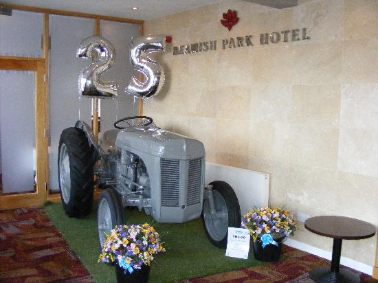 Beamish Park Hotel: Ferguson tractor in Hotel Foyer