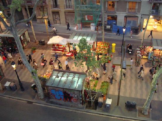 Exe Ramblas Boqueria: view from hotel room