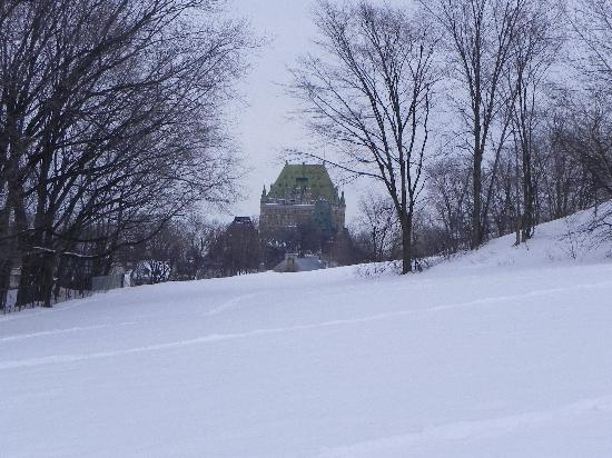 Old Quebec: Chateau Frontenac from the Plains of Abraham