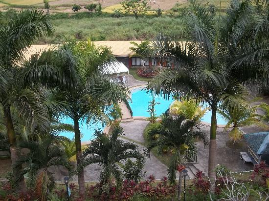 Biliran Garden Resort: view from my room at the pool