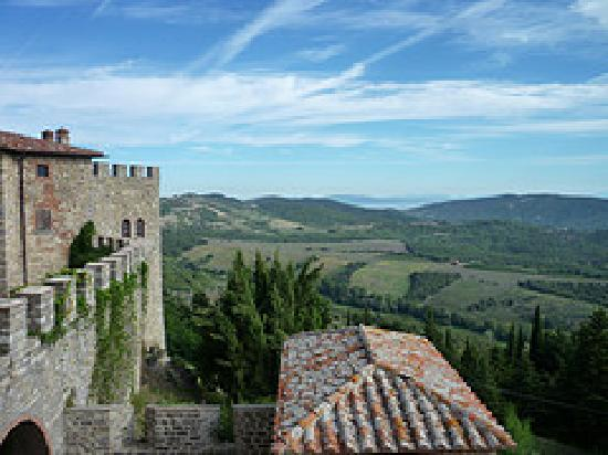 Castello di Montegiove: view from the castle