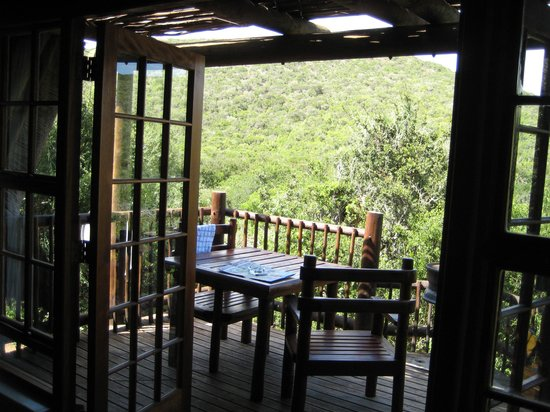 Matyholweni Rest Camp: the balcony