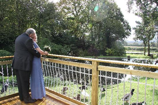 The Eiders Bed and Breakfast: Wooden Balcony View