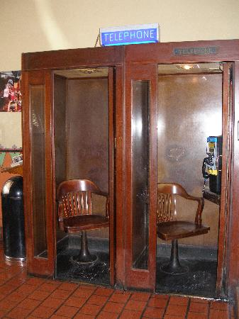 The Historic Hotel Congress: Phone Booths in Lobby