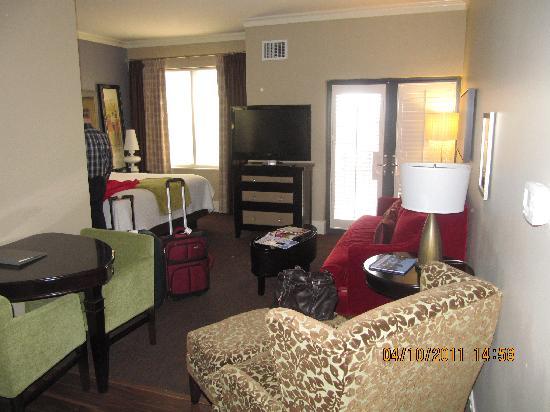 Hosting suite sitting area