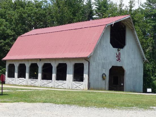 Inn on Biltmore Estate: the barn where you meet for the carriage rides