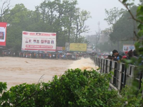 Jamshedpur, India: kharkhai river on flood