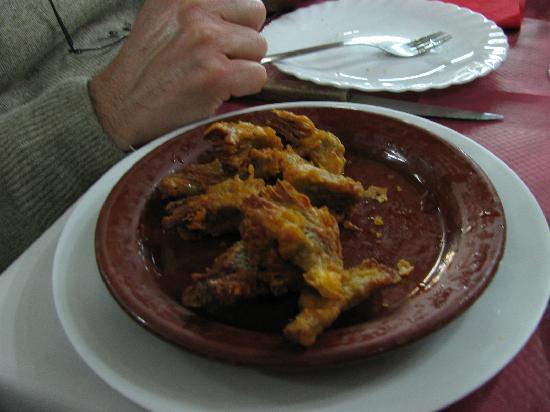 O'Pineiro: tapas - carciofi in pastella