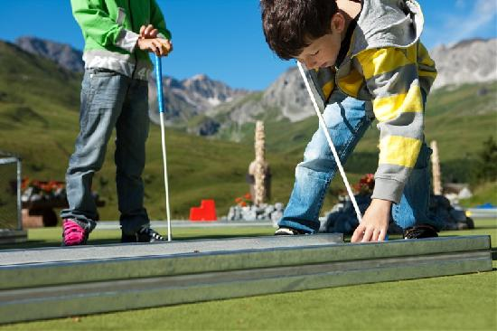Arosa Kulm Hotel & Alpin Spa: Kids Minigolf
