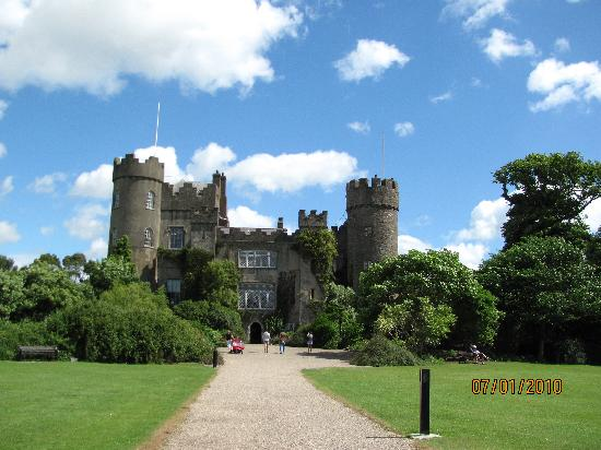 Malahide Castle: The caste from the gardens