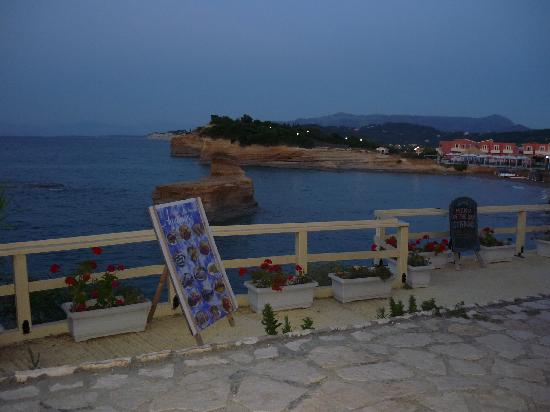 Kanali Hotel - Apartments: A warm evening with a lovely view.