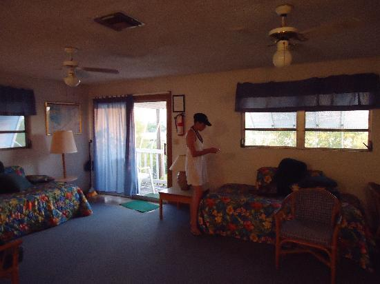 "Ed & Ellen's Lodgings: Girlfriend next to ""sofabed"" prior to incident."