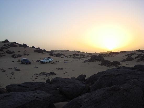 Tamanrasset, Algérie : Our bivac in the Sahara