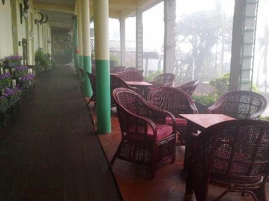 Darjeeling Planters Club: The patio adjoining the bar