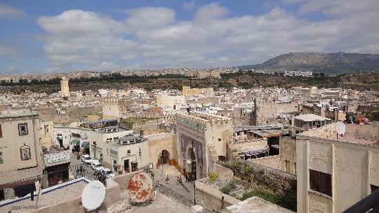View From Hotel Bab Boujloud Roof over Fes