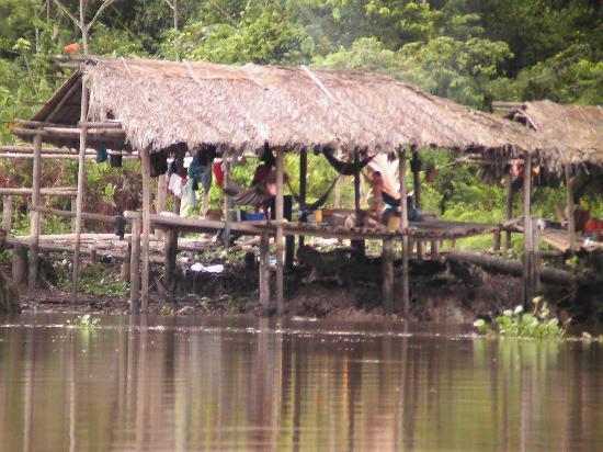 Orinoco River: Hütte der Einheimischen im Delta