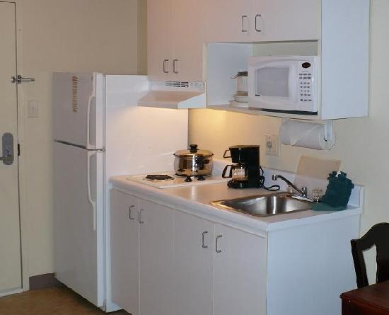 InTown Suites Clarksville: Fully Equipped Kitchens in Every Suite!