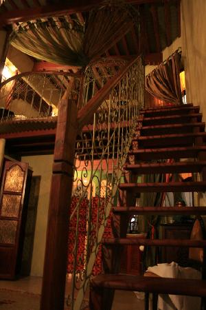 Riad Lorsya: View from the door looking up the stairs