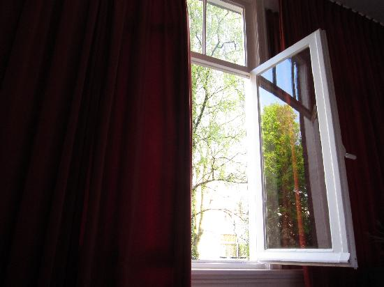 The Collector Bed & Breakfast: View from bed with window open