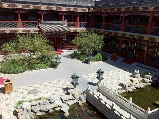 Han's Royal Garden Hotel: one of the inner courtyards