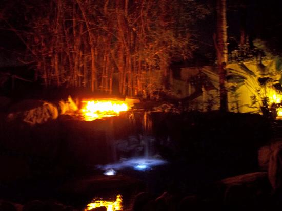 Vista Grande Resort: Waterfall at night