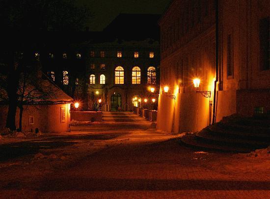 Zamek na Hradczanach: Castle at night