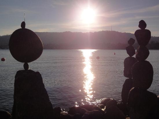 Lake Zurich, Eastern Bank: Romantischer Sonnenuntergang