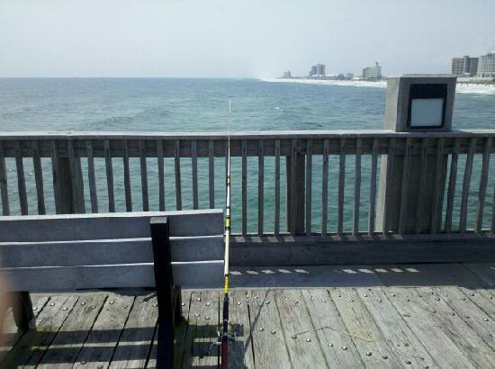 Pier fishing picture of pensacola beach gulf pier for Pensacola beach fishing pier
