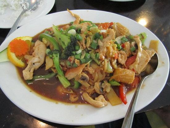 Thai Garden Restaurant: Chicken in black bean sauce