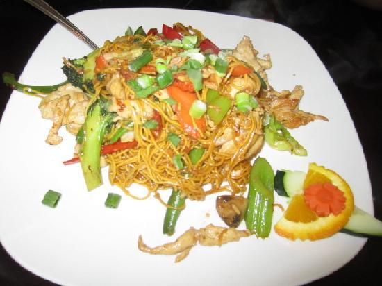 Thai Garden Restaurant: Chicken and noodle dish (don't remember name)
