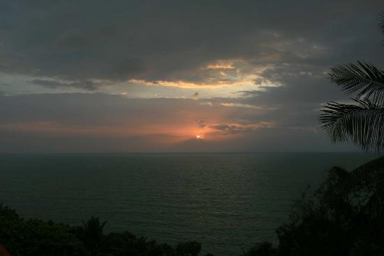 Seaview Bungalows Thansadet: Sonnenuntergang ,von der Bungalowterasse aufgenommen