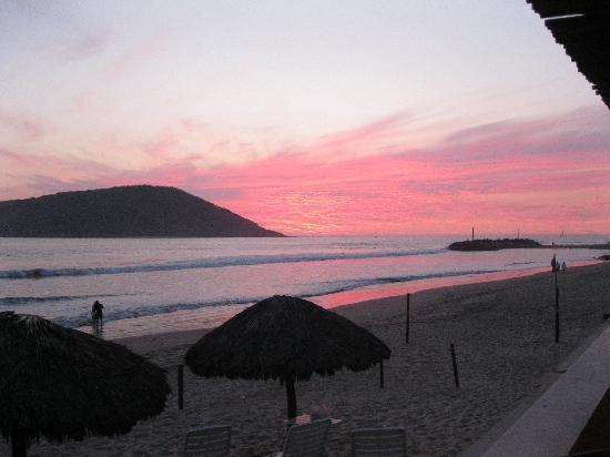 El Cid Castilla Beach Hotel : The beautiful sunset