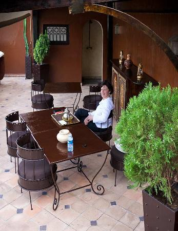 Riad Argan : Relaxing on the roof terrace