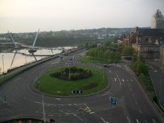 View from our room at City Hotel Derry